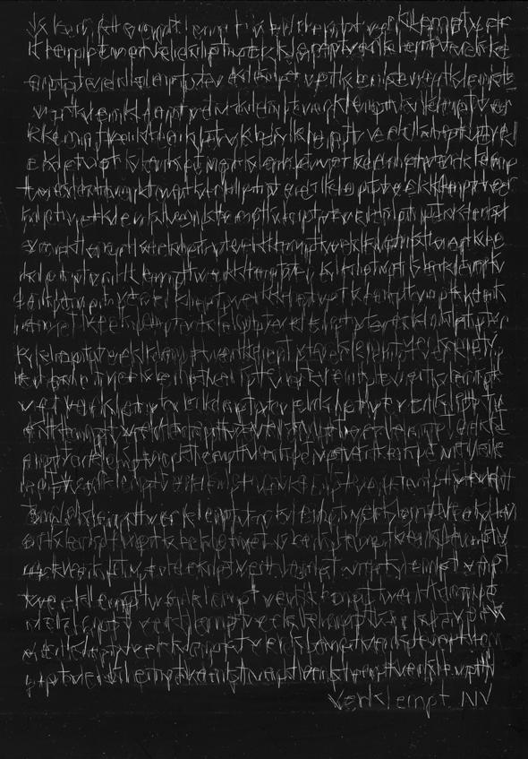 Verklempt, scratchboard, 7 x 5 in., 2016